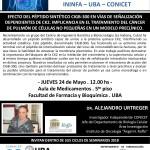 SEMINARIO ININFA-DTO FARMACOLOGÍA 24 de Mayo 2018 . Dr. Alejandro Urtreger