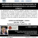 SEMINARIO ININFA-DTO FARMACOLOGÍA 6 DE SEPTIEMBRE 2018 Dr. Daniel Alonso